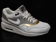 Nike Air Max 1 Entrenador De Marcha Mujeres Zapato Talla 3.5 Blanco Negro