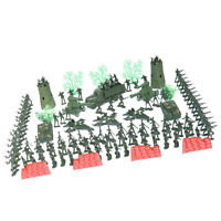 167Pcs Plastic Military Playset Toy 4cm Soldier Army Men Figures Child Kids Toys