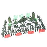 167Pcs Plastic Military Playset Toy 4cm Soldier Army Men Figures Child Kids Toys