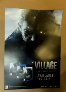 RESIDENT EVIL VILLAGE CHRIS REDFIELD -  OFFICIAL A2 PROMO POSTER (NOT A GAME)
