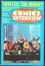 COMICS INTERVIEW MAGAZINE # 79 TEENAGE MUTANT NINJA TURTLES THE MOVIE