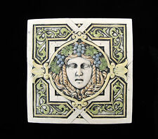 Goddess Garden Girl Bacchante Arts & Crafts Gothic Ellison Tile