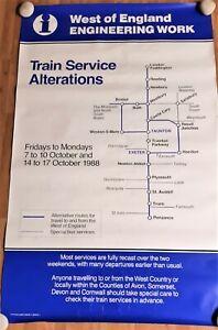 "BR Original Railway Poster "" West of England Engineering Works 1988 """