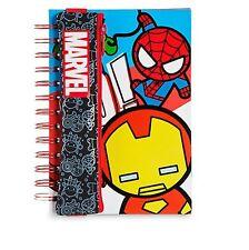 Disney Store Marvel MXYZ Note Book Journal & Pencil Case Iron Man Spiderman Hulk