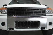 Custom Grille Combo fits Nissan Armada 05-07 Parts Steel Aftermarket Grill Kit
