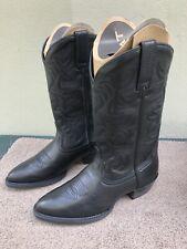 NIB Ariat Heritage Western R Toe Men's Black Leather Western  Boots, US8EE