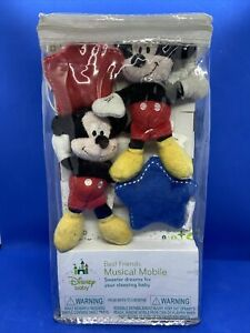 Disney Mickey Mouse Baby Mobile Musical Soft Hang Toys Infant Soft Quality