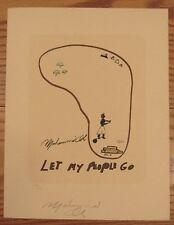 Original Signed Muhammad Ali serigraph print Let My People Go WFUNA #238/250