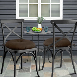 Bistro 15 X 15 x 5 Patio Chair Tufted Cushion With Ties 2, 4, 6 or 12 Pack
