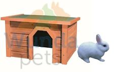 TRIXIE WOODEN OUTDOOR SMALL ANIMAL RABBIT HOUSE FOR RUN HUTCH CAGE HIDE 62395