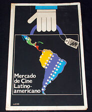 1989 Cuban Original Movie Poster.Cine Latinoamericano.MECLA.Latin Cinema art
