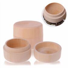 Small Round Wooden Box Vintage Decorative Natural Craft Jewelry Box 1Pcs 5*3.5cm