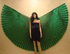 Egyptian Petite Kids Belly Dance Dark Green Lame Isis Wings + Bag & Sticks Sale