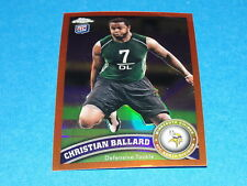 2011 TOPPS CHROME Christian BALLARD Orange RC - Minnesota VIKINGS Iowa HAWKEYES
