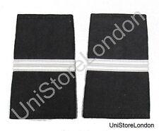 Epaulet Pilot Epaulette Sliders 1 Silver Bar  Black Cloth R1310