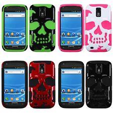 Samsung Galaxy S2 T989 T-Mobile Hybrid Skull Case Skin Cover
