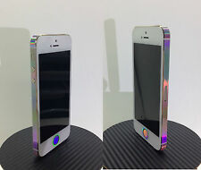 iPhone 5S * RAINBOW * Vinyl Sticker Edge Wrap Decal Only
