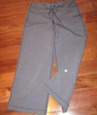 LULULEMON RELAXED FIT CROPS SIZE 4 HEATHERED CHARCOAL Gray