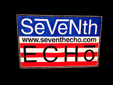 SEVENTH ECHO lrg T shirt OHIO Cincinnati rock band 7E tee American flag 1990s OG
