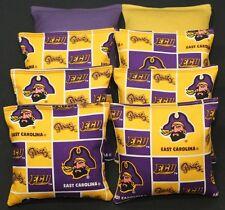 Ecu East Carolina Pirates 8 Cornhole Bean Bags Baggo Toss Top Quality Handmade!