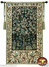 WILLIAM MORRIS TREE OF LIFE LARGE WOVEN MADE WALL HANGING TAPESTRY Garden GREEN