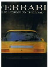 FERRARI THE LEGEND ON THE ROAD, BRIAN LABAN, NEW 1991 HARDBOUND 160 PAGE BOOK