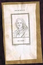 Alain-René Lesage - Claude Saumaise - RARE  1809 Copper Plate Portrait Prints