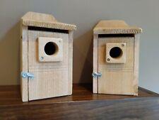 2 Bluebird Houses-Rough sawn cedar
