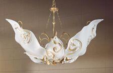 Lampadario classico in foglia oro e vetro coll. BELL sirio 018/S6L