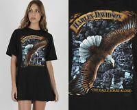 Vtg 80s 3D Emblem Harley Davidson Motorcycle Biker Eagle Dealer OH Tee T Shirt