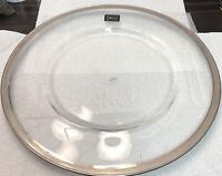 "RARE! 13.75"" Glass Plate, UNUSED NWT! Mikasa Palatial Platinum, T2727"