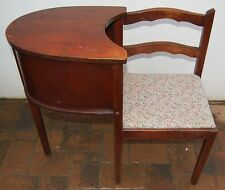 Vintage Art Deco Telephone Phone Gossip Table Chair rare - pick up only please
