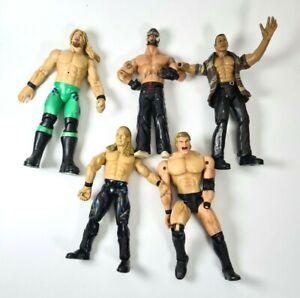 5 DAMAGED WWE Wrestling Figures Titan Tron Jakks Pacific Bundle Joblot