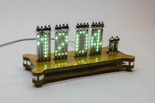 16x VFD IVLM1-1/7 Dot Tubes Matrix Desk Clock Scrolling text NIXIE ERA!