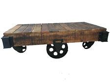 Couchtisch Tisch Mango Massiv 120cm Factory Design mit Rädern NEU