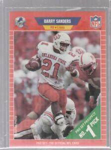 (2) lot Football Rookie Cards of Barry Sanders