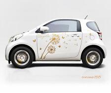 Autoaufkleber Pusteblume Auto Sticker Aufkleber Tuning  Blume Schmeterling a302a