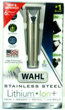 Wahl Stainless Steel Lithium Ion Hair Clippers Beard Mustache Trimmer 6 Hour