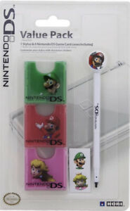 Nintendo DS Value Pack Mario 1 Stylus 6 Game Card Cases & Stickers