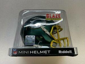 RIDDELL NFL MINI HELMET BLAZE ALTERNATE GREEN BAY PACKERS
