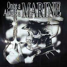 ONCE A MARINE WALL BANNER usa tapestry service military united states usmc flag