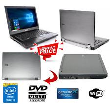 DELL LATITUDE E6410 LAPTOP WINDOWS 10 INTEL CORE i5 2.4GHz WIFI DVD+RW PC 250GB