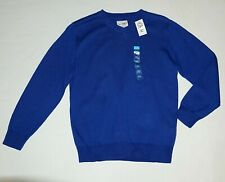 NWT The Childrens Place XL 14 Boys Royal Blue Pullover Sweater V-Neck