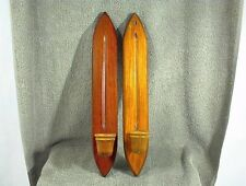 PAIR VINTAGE CORNWALL WOOD CANDLE HOLDERS WALL SCONCE SOUTH PARIS MAINE