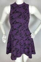 FOREVER 21 Women's Dress Small Black and Purple Sleeveless Stretch S