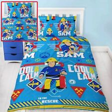 FIREMAN SAM COOL SINGLE DUVET COVER SET REVERSIBLE KIDS BEDDING