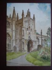 POSTCARD GLOUCESTERSHIRE NORTHLEACH ST PETERS & ST PAULS SOUTH PORCH