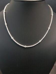 RRP £12000...  F/VS 6.50CT Round Diamond Graduated Necklace, 18k White Gold