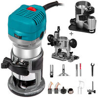 Compact Router Kit with Plunge and Offset Base 710W Installation Ergonomic