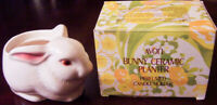 "Vintage 1977 Avon ""BUNNY CERAMIC PLANTER"" Perfumed Easter Candle Holder - NEW"